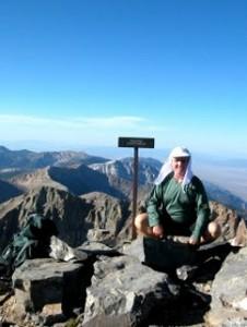 Harry Helms at 13,000 feet on Wheeler Peak.  Photo courtesy of Harry's Blog.