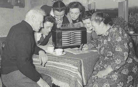 Image result for listening to old fashioned radio