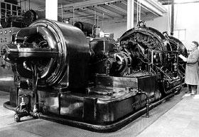 Alexanderson alternator in the SAQ Grimeton VLF transmitter.