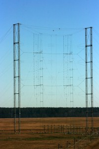 One of the 19 curtain antennas on the campus (Click to enlarge)