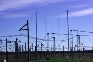 The enormity of the antenna farm is difficult to capture, even with a wide angle lens (Click to enlarge)