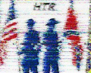 This Hard Tack Radio SSTV image can be decoded at the end of the broadcast.