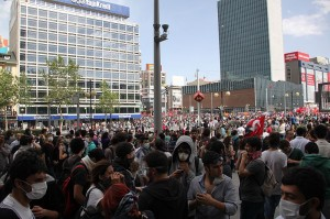 Gezi protest in K?z?lay Square, Ankara  (Source: Wikimedia Commons)