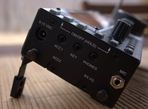 Left side panel of the Elecraft KX3 (click to enlarge)