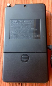 Back of model RadioShack 12-587