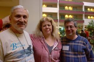 From Left to right: Sheldon Harvery (of The International Radio Report), Tina Shields and Dan Srebnick