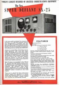 Hallicrafters SX-25 Super Defiant Advertisement (Image: Rich Post)