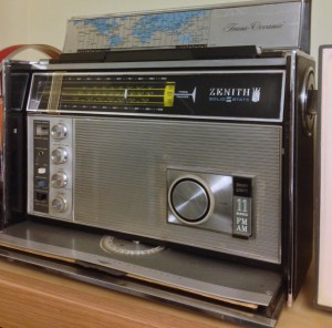 My trusty Zenith Trans Oceanic will always be a part of my radio collection (Click to enlarge)