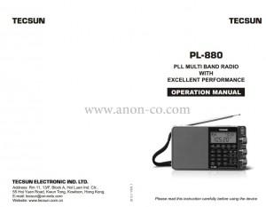 Tecsun PL-880 Owners Manual