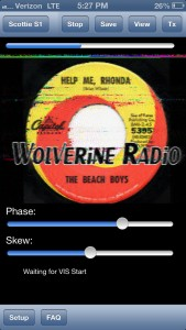 SSTV makes easy work of decoding SSTV messages. You can change modes, Phase and Skew on the fly. In this example, I decoded the eQSL of pirate radio station, Wolverine Radio.