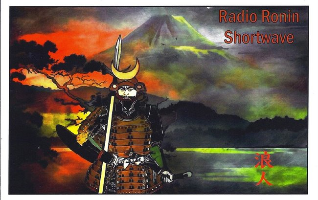 "I received this QSL from the amazing Radio Ronin Shortwave shortly before he received ""the knock"" from the FCC and stopped transmitting."