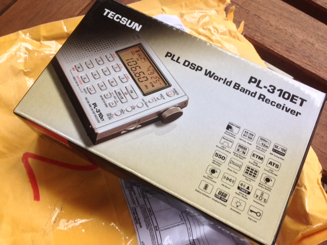 The Tecsun PL-310 as it arrived in the post.