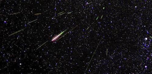 Perseids meteor shower Photo: NASA