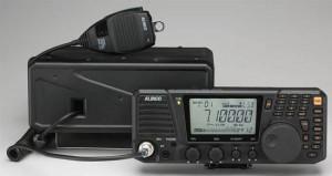 The Alinco DX-SR8 has a detachable face plate