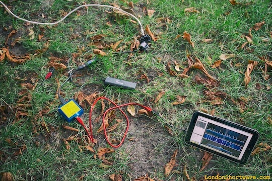Figure 5. Portable SDR setup in action in a local park