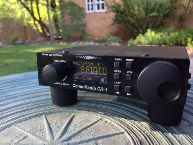 Listening to my CommRadio CR-1 while on vacation in Taos, New Mexico