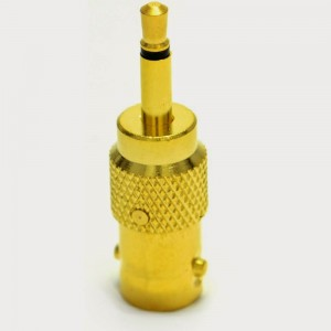 12. BNC Socket to Composite 3.5mm Male Jack Plug Adapter