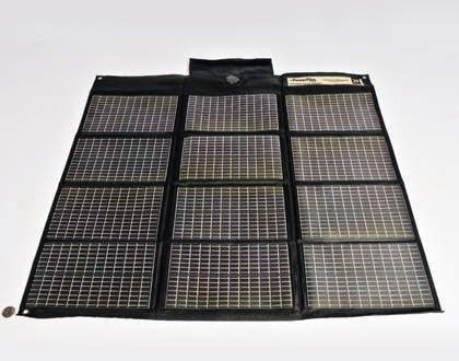 1. Powerfilm F16-1200 20W foldable solar panel