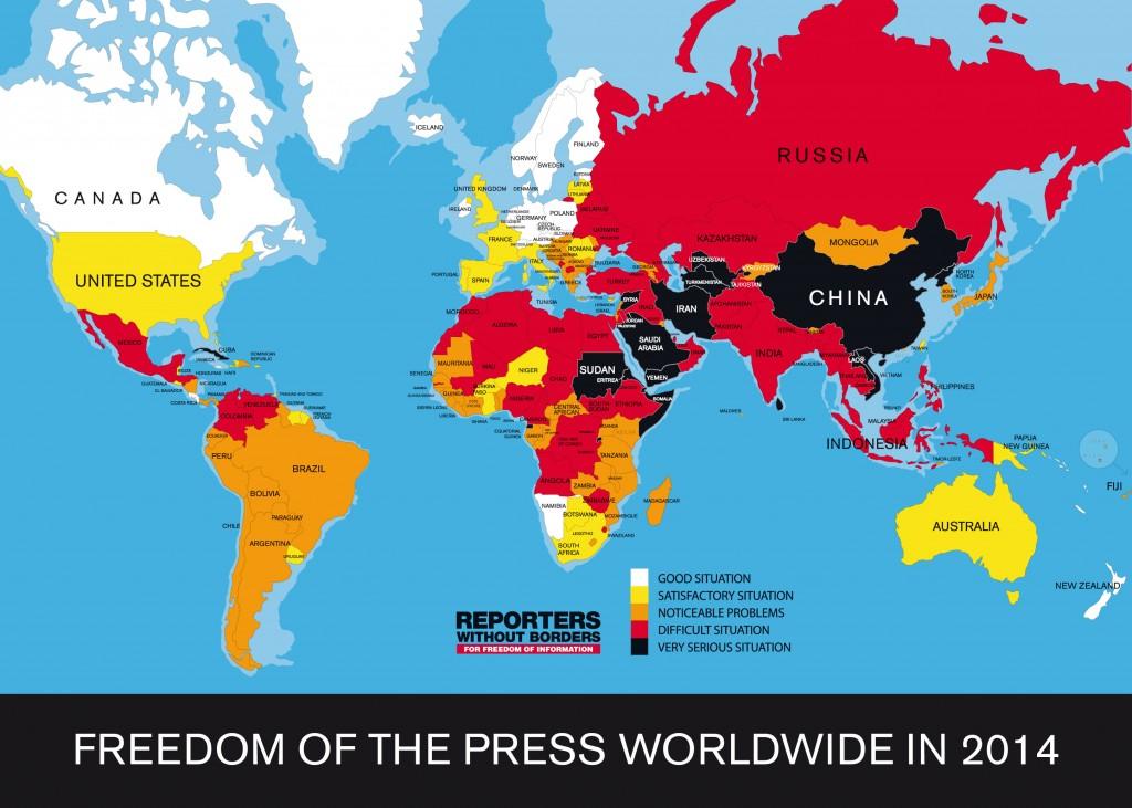 PressFreedomsIndexMap-ReportersWithoutBorders