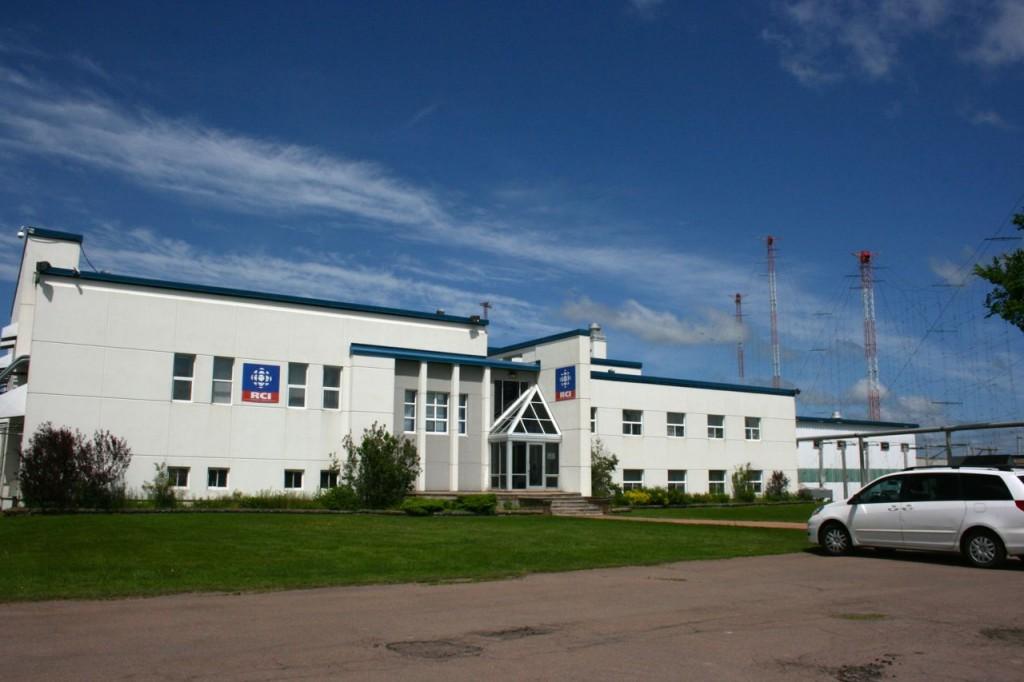 The transmitter building of Radio Canada International, Sackville, NB.