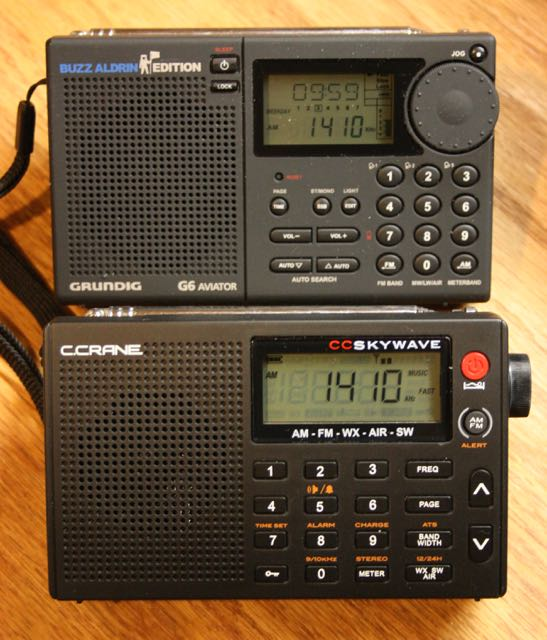 The Grundig G6 (top) and C.Crane CC Skywave (bottom)
