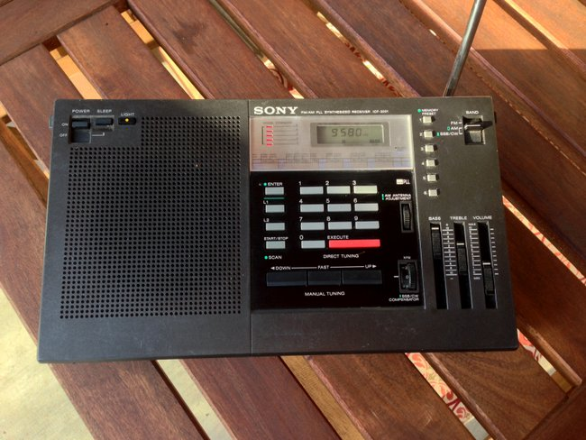 my new to me sony icf 2001 shortwave radio the swling post. Black Bedroom Furniture Sets. Home Design Ideas