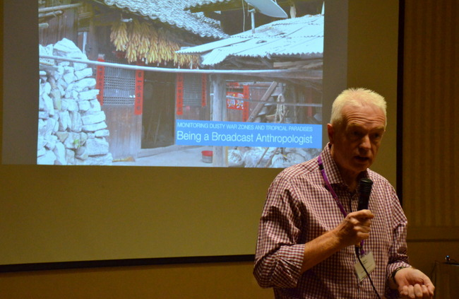 """Mark Fahey hosts his forum, """"Monitoring Dusty War Zones and Tropical Paradises: On Being a Broadcast Anthropologist"""""""