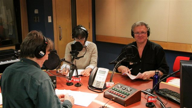 Wojtek's final appearance on the Link in RCI's remaining studio, with Lynn and Marc on Friday May 1, 2015 © Leo G- RCI (Source: RCI)
