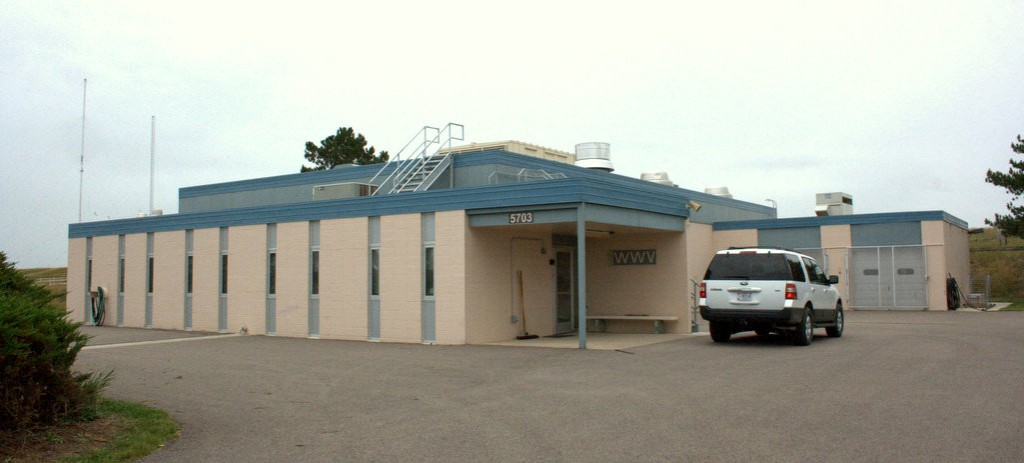 WWV's transmitter building in Fort Collins, Colorado (2014)