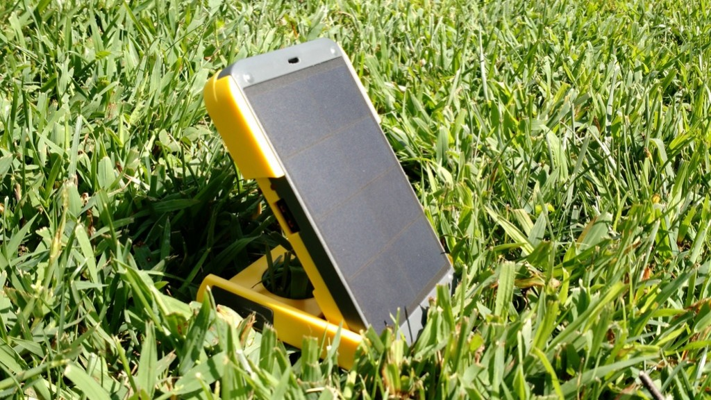 The flip cover has detents which allow you to angle the solar panel for optimum solar tracking.
