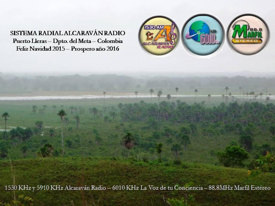 Alcaravan Radio QSL Card Christmas