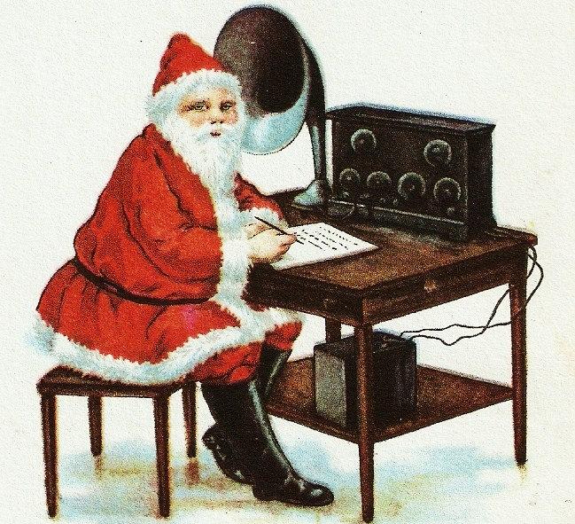 Santa-Radio-Vintage