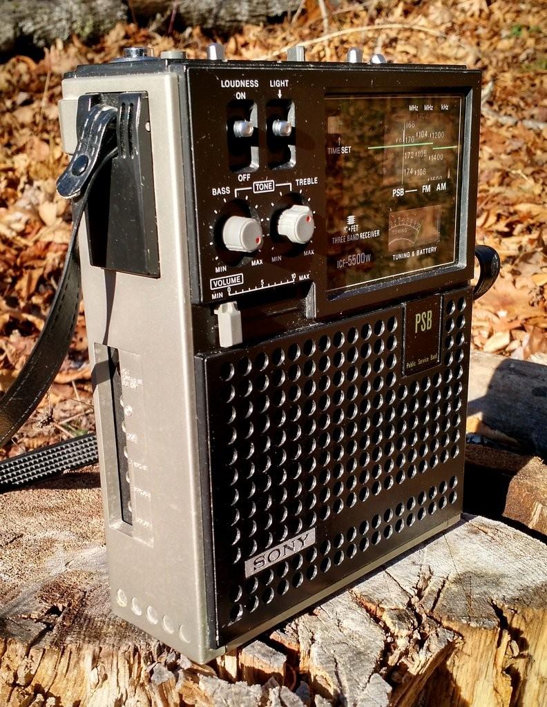 Sony-ICF550W-Left