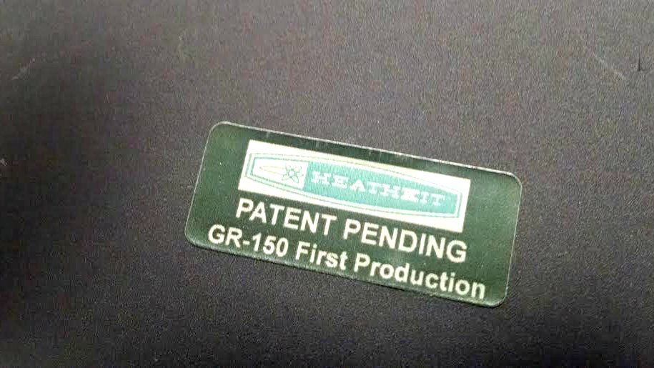 Heathkit Explorer Jr. 1st run sticker