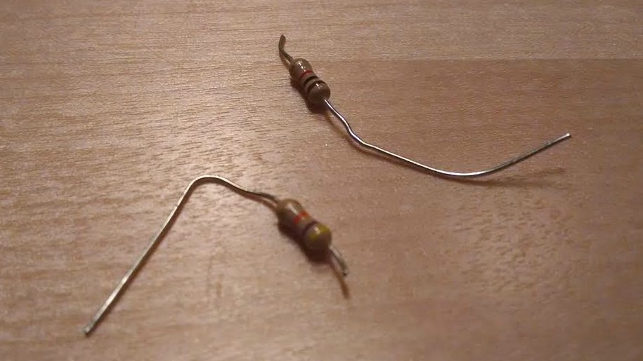 Heathkit Explorer Jr. sheered off resistor leads