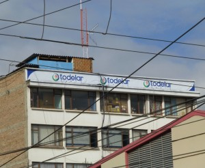 The Todelar network building in Pasto.