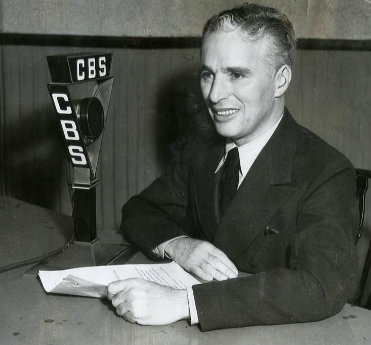 When Charlie Chaplin finally allowed the world to hear his voice after 20 years of mime, he chose CBS's airwaves to do it on. (Source: Wikipedia)
