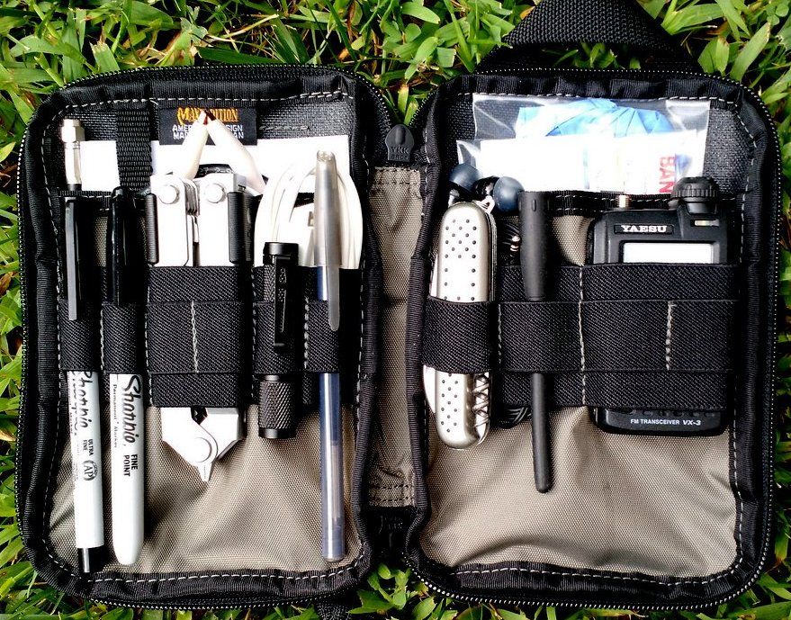 My Everyday Carry (EDC) pack, loaded with all of the essentials.