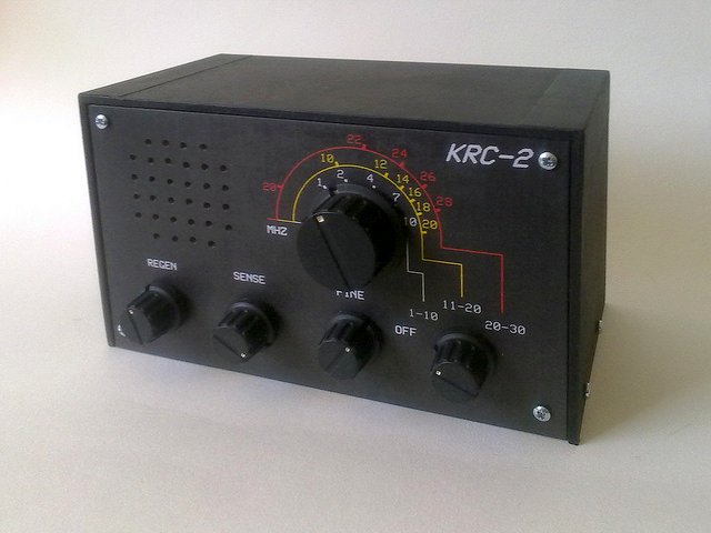 The Krc 2 Shortwave Regenerative Receiver Kit on one tube receiver circuit