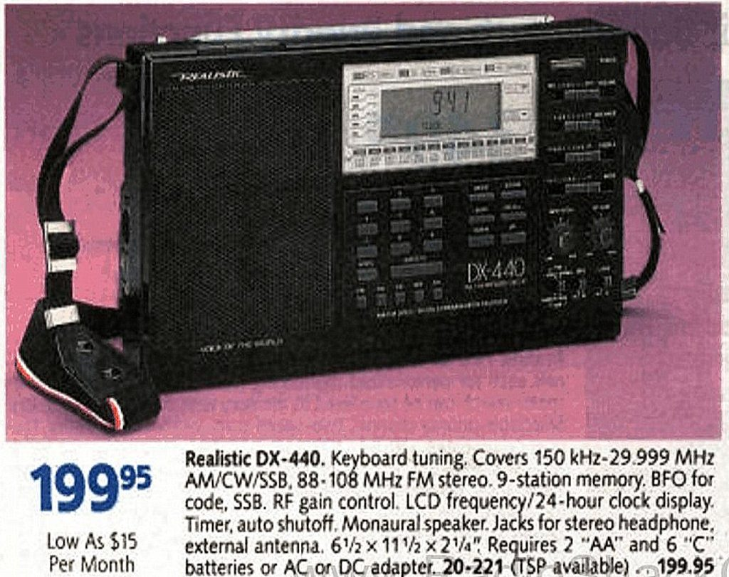 The Realistic DX-440
