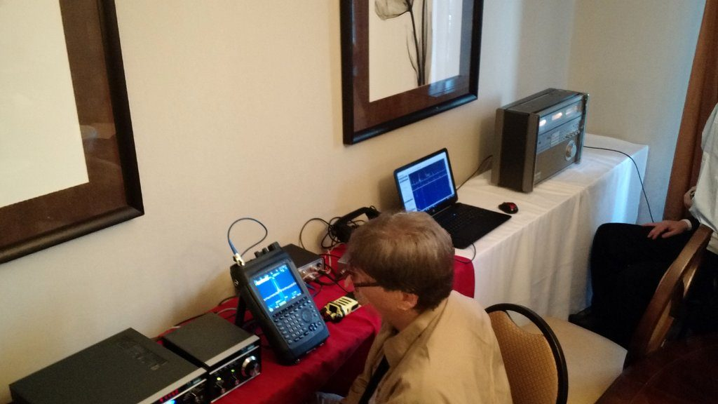 Note Dan's RF-9000 at the far end of the listening lounge table.