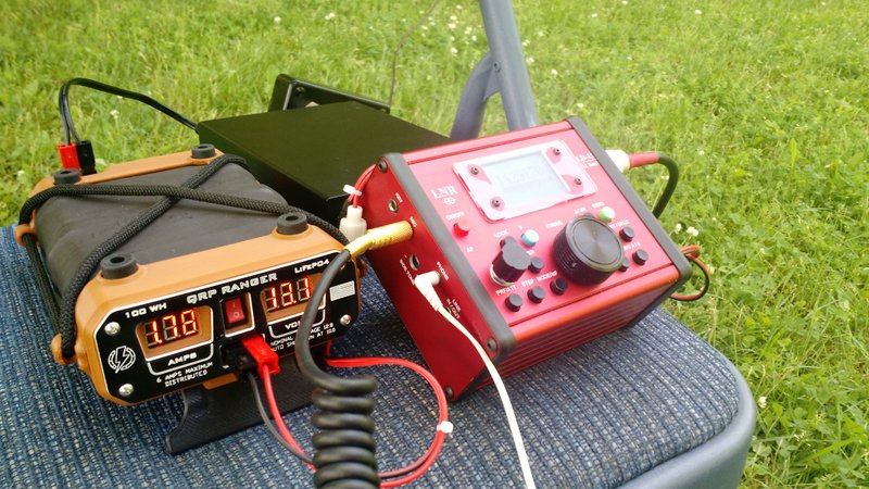 The QRP Ranger (left) and LNR Precision LD-11 transceiver (right)