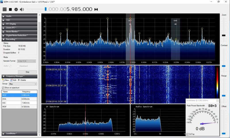 Screenshot from Marc's SDR.