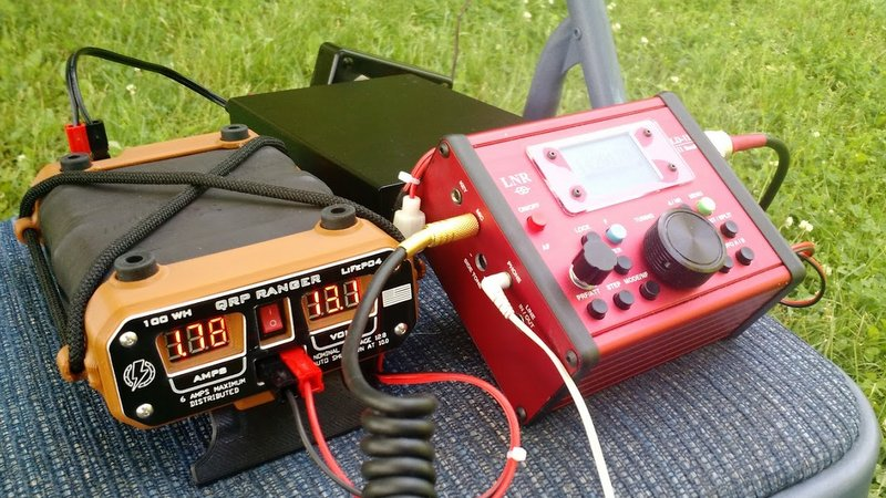 The LNR Precision LD-11 and QRP Ranger during a National Parks On The Air (NPOTA) activation in Ohio.