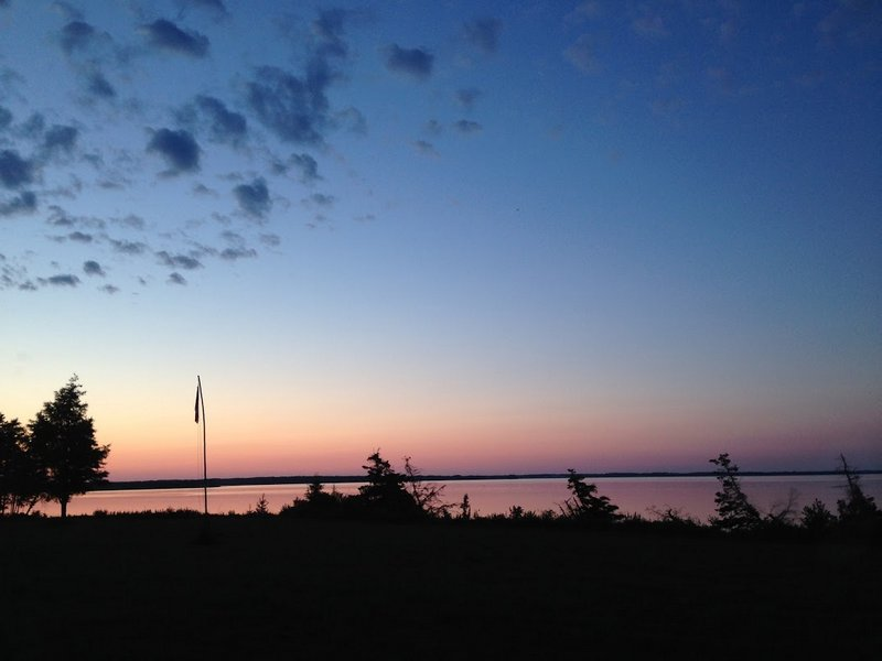 The view from our off-grid cabin on PEI.