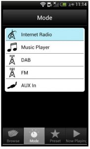 The Sangean remote control app allows full control of the WFR-28's functions.