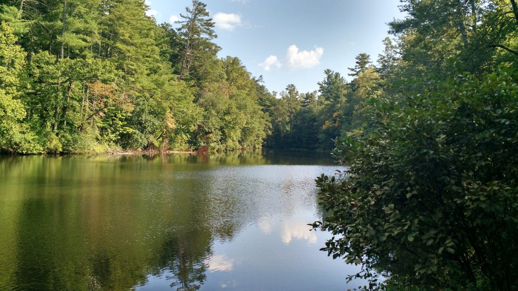 The lake at the trail head.