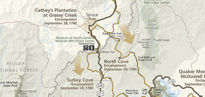I'll hike to the point where the Overmountain Victory Trail meets the Blue Ridge Parkway.