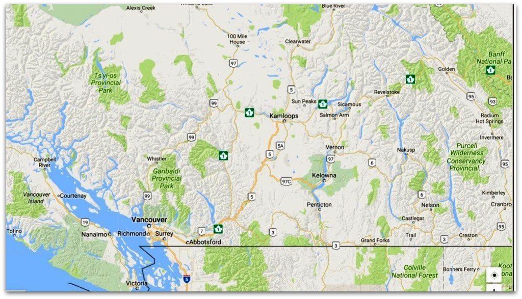 Location of Vernon, British Columbia, Canada.