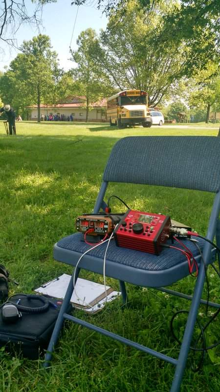 The LD-11, QRP Ranger, and Z-11 auto-tuner at the Hopewell Culture Park NPOTA activation.
